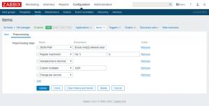 Zabbix 3.4 Item Preprocessor